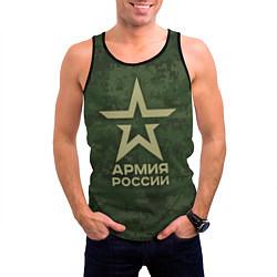 Майка-безрукавка мужская Армия России цвета 3D-черный — фото 2