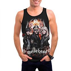 Майка-безрукавка мужская Motorhead Band цвета 3D-черный — фото 2