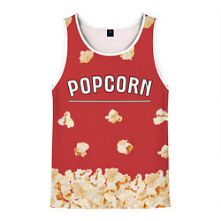 Майка-безрукавка мужская Popcorn цвета 3D-белый — фото 1