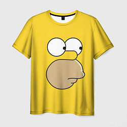 Футболка мужская Лицо Гомера цвета 3D — фото 1