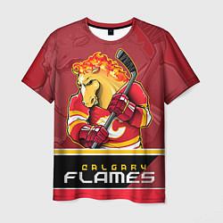 Футболка мужская Calgary Flames цвета 3D — фото 1