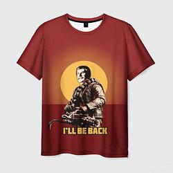 Футболка мужская Stalin: Ill Be Back цвета 3D — фото 1