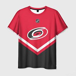 Футболка мужская NHL: Carolina Hurricanes цвета 3D-принт — фото 1