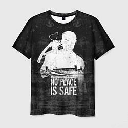 Мужская 3D-футболка с принтом No Place is Safe, цвет: 3D, артикул: 10114185203301 — фото 1