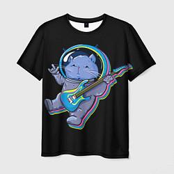 Мужская 3D-футболка с принтом Космокот, цвет: 3D, артикул: 10125017003301 — фото 1