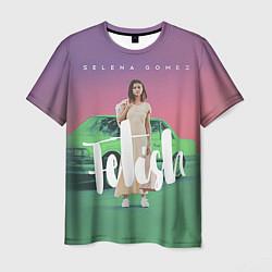 Футболка мужская Selena Gomez: Green Fetish цвета 3D — фото 1