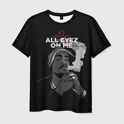 Мужская 3D-футболка с принтом 2Pac: All Eyez On me, цвет: 3D, артикул: 10133574503301 — фото 1