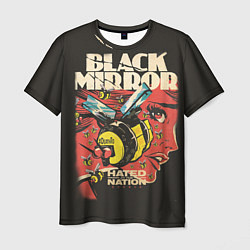 Футболка мужская Black Mirror: Nated Nation цвета 3D-принт — фото 1