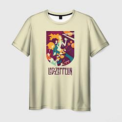 Футболка мужская Led Zeppelin Art цвета 3D — фото 1