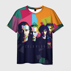 Футболка мужская Coldplay цвета 3D-принт — фото 1