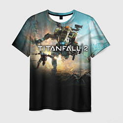 Футболка мужская Titanfall Battle цвета 3D — фото 1
