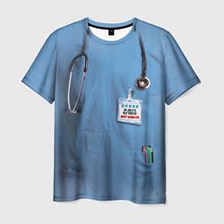 Футболка мужская Костюм врача цвета 3D-принт — фото 1