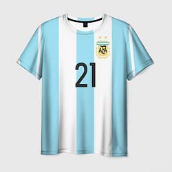 Футболка мужская Сборная Аргентины: Диабола ЧМ-2018 цвета 3D-принт — фото 1