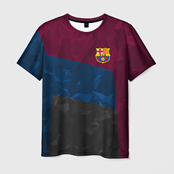 Футболка мужская FC Barcelona: Dark polygons цвета 3D — фото 1
