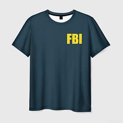 Футболка мужская FBI цвета 3D-принт — фото 1