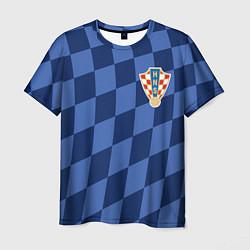 Футболка мужская Сборная Хорватии цвета 3D-принт — фото 1