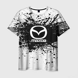 Футболка мужская Mazda: Black Spray цвета 3D — фото 1