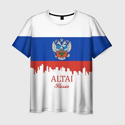 Футболка мужская Altai: Russia цвета 3D-принт — фото 1