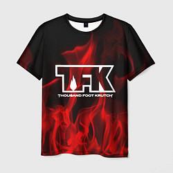 Футболка мужская Thousand Foot Krutch: Red Flame цвета 3D — фото 1