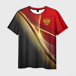 Футболка мужская RUSSIA SPORT: Gold Collection цвета 3D-принт — фото 1
