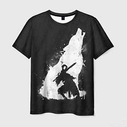Футболка мужская Dark Souls: Howling Wolf цвета 3D — фото 1