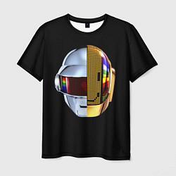 Футболка мужская Daft Punk: Smile Helmet цвета 3D — фото 1