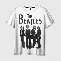 Футболка мужская The Beatles: White Side цвета 3D-принт — фото 1