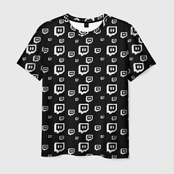 Футболка мужская Twitch: Black Pattern цвета 3D — фото 1