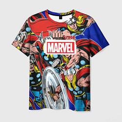 Футболка мужская Thor: MARVEL цвета 3D — фото 1