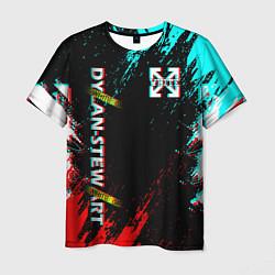 Футболка мужская OFF-WHITE: GLITCH цвета 3D — фото 1