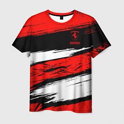 Футболка мужская Ferrari цвета 3D — фото 1