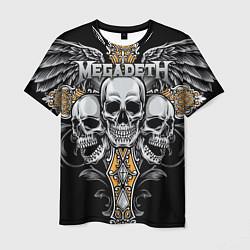 Футболка мужская Megadeth цвета 3D — фото 1