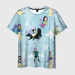 Футболка мужская Mulan Pattern цвета 3D — фото 1