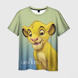 Мужская 3D-футболка с принтом Юный Симба, цвет: 3D, артикул: 10266094903301 — фото 1