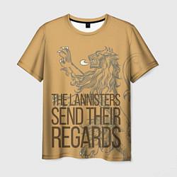 Футболка мужская The Lannister Send цвета 3D-принт — фото 1