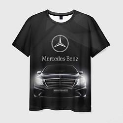 Мужская 3D-футболка с принтом Mercedes, цвет: 3D, артикул: 10073101703301 — фото 1