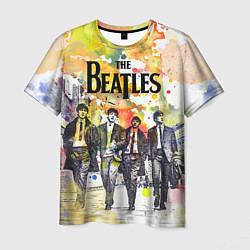 Футболка мужская The Beatles: Colour Spray цвета 3D-принт — фото 1