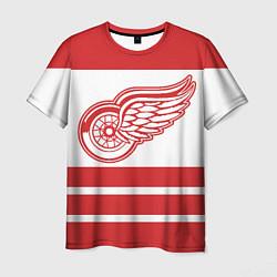 Футболка мужская Detroit Red Wings цвета 3D — фото 1