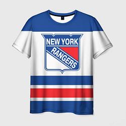 Футболка мужская New York Rangers цвета 3D — фото 1
