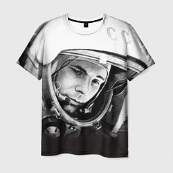 Футболка мужская Юрий Гагарин цвета 3D — фото 1