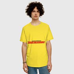 Футболка оверсайз мужская NFS Undeground цвета желтый — фото 2