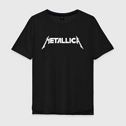 Футболка оверсайз мужская Metallica цвета черный — фото 1