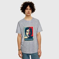 Футболка оверсайз мужская Lennon Imagine цвета меланж — фото 2