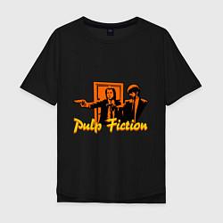 Футболка оверсайз мужская Pulp Fiction цвета черный — фото 1