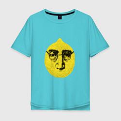 Футболка оверсайз мужская John Lemon цвета бирюзовый — фото 1