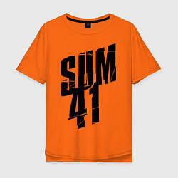 Футболка оверсайз мужская Sum Forty One цвета оранжевый — фото 1