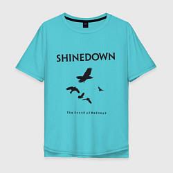 Футболка оверсайз мужская Shinedown: Sound of Madness цвета бирюзовый — фото 1