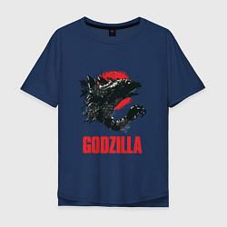 Футболка длинная мужская Godzilla: Red Sun - фото 1
