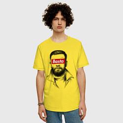 Футболка оверсайз мужская Basta Supreme цвета желтый — фото 2