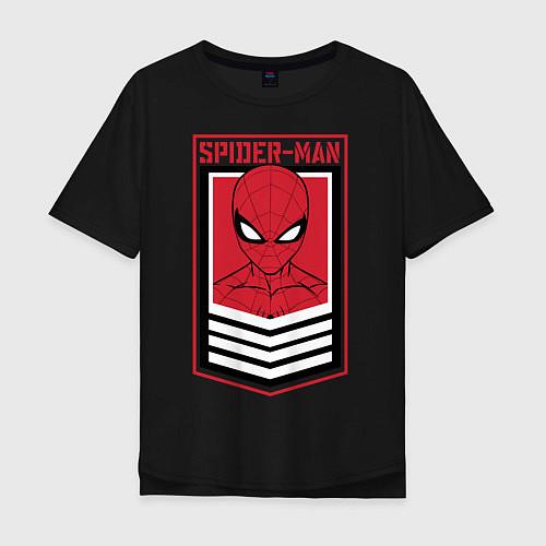 Мужская футболка оверсайз Sppider-Man / Черный – фото 1